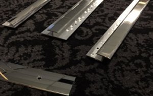 CLICK HERE FOR LARGER IMAGE OF POLISHED ALUMINIUM  CARPET TRIMS